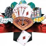 Second Nature Carte 3 D pour homme pour une occasion spéciale Motif jeu de casino