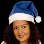 PROMOTION: Lot de 12 Bonnet de Père Noel mère Noël qualité Alsino (wm-31) bonnet Coloris Bleu blanc l'accessoire original pour adulte / Ados typique festif idéal pour les fêtes de fin d'année pour se déguiser ou marquer l'événement pour un joyeux noel cadeau adultes enfant famille amis fille femme homme garcon déguisement sympa soirée spéctacle theatre animation carnaval festivale Pas cher