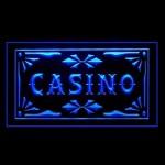 la publicitšŠ de casino sur table de jeu a conduit de lumiššre de signe