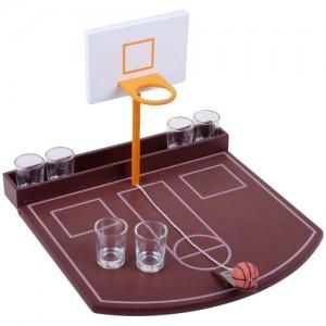 Coffret Jeu Apero à Boire Basketball Service Verre Shooters